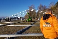 Aufbau - Zelt